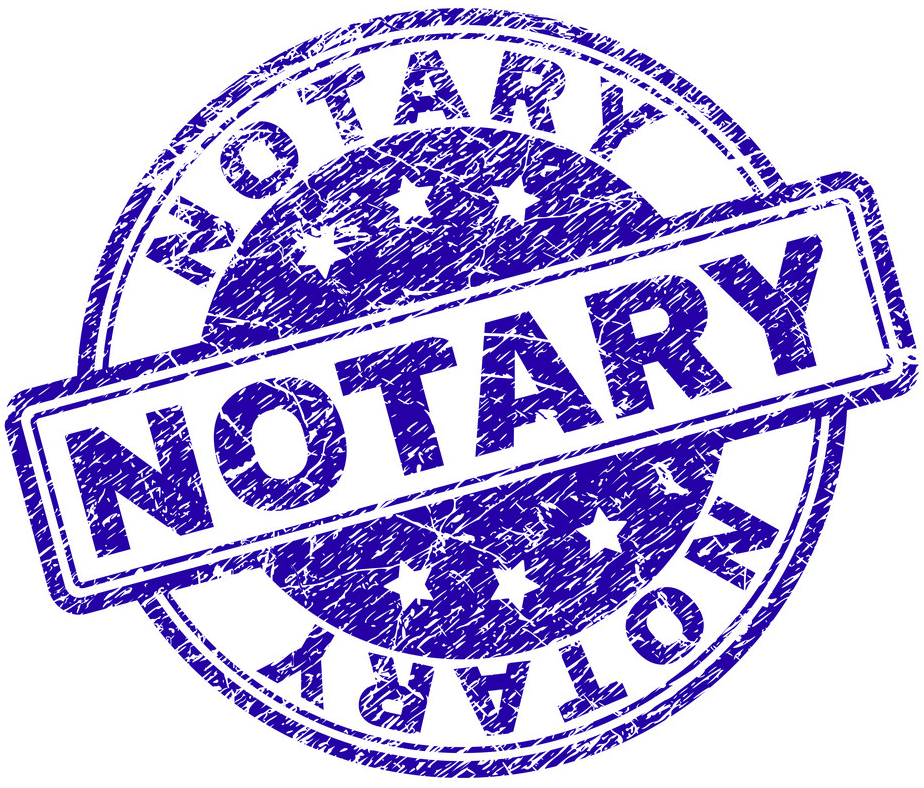 notary seal purple